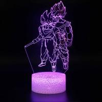 Lampe 3D Sangoku et Sangoku Super Saiyan