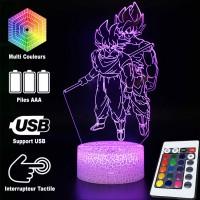 Lampe 3D Sangoku et Sangoku Super Saiyan caractéristiques