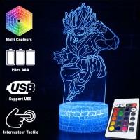 Lampe 3D Sangoku Super Saiyan Blue caractéristiques