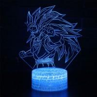 Lampe 3D Sangoku Super Saiyan 3