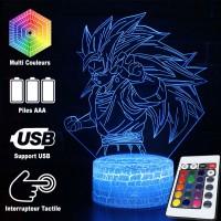 Lampe 3D Sangoku Super Saiyan 3 caractéristiques