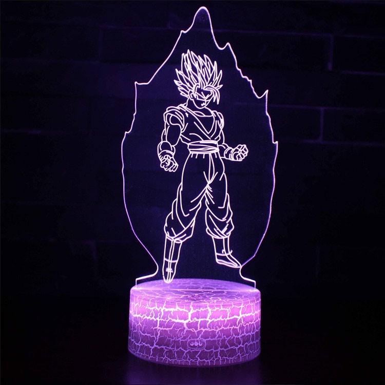 Lampe 3D Sangoku Super Saiyan aura