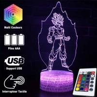 Lampe 3D Sangoku Super Saiyan aura caractéristiques