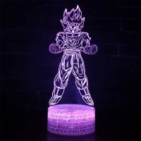 Lampe 3D Sangoku tranformation Super Saiyan