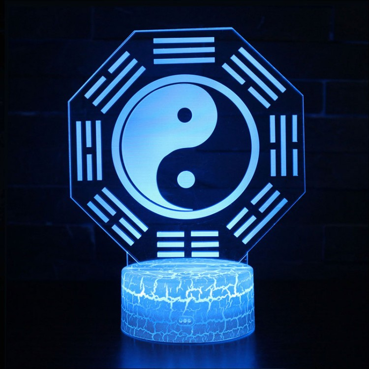 Lampe 3D Yin Yang
