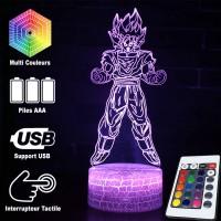 Lampe 3D Sangoku tranformation Super Saiyan caractéristiques