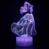 Lampe 3D Belle Dansant