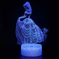 Lampe 3D Belle Rose