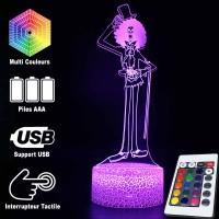 Lampe 3D One Piece de Brook caractéristiques