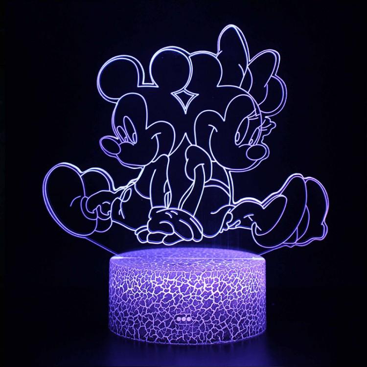 Lampe 3D Minnie Mickey