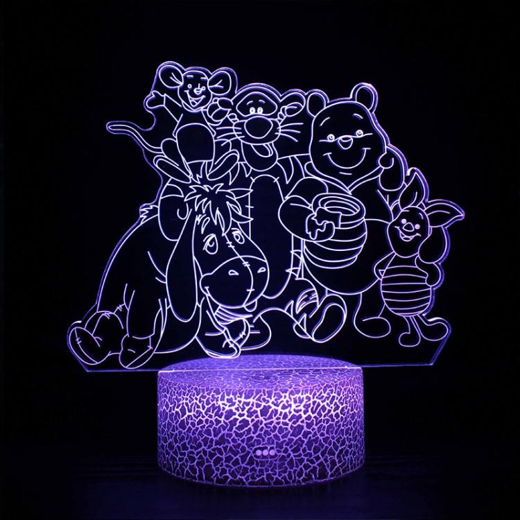 Lampe 3D Winnie Ourson Amis