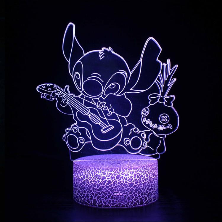 Lampe 3D Stitch Souillon