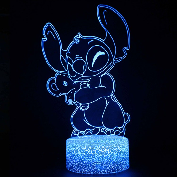 Lampe 3D Stitch Nounours