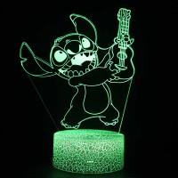 Lampe 3D Stitch Guitare