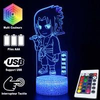 Lampe 3D Sasuke Naruto Caractéristique caractéristiques et télécommande