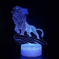 Lampe 3D Roi Lion Montagne