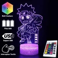 Lampe 3D Petit Naruto caractéristiques et télécommande