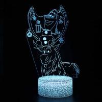Lampe 3D Olaf Sven Reine Neiges