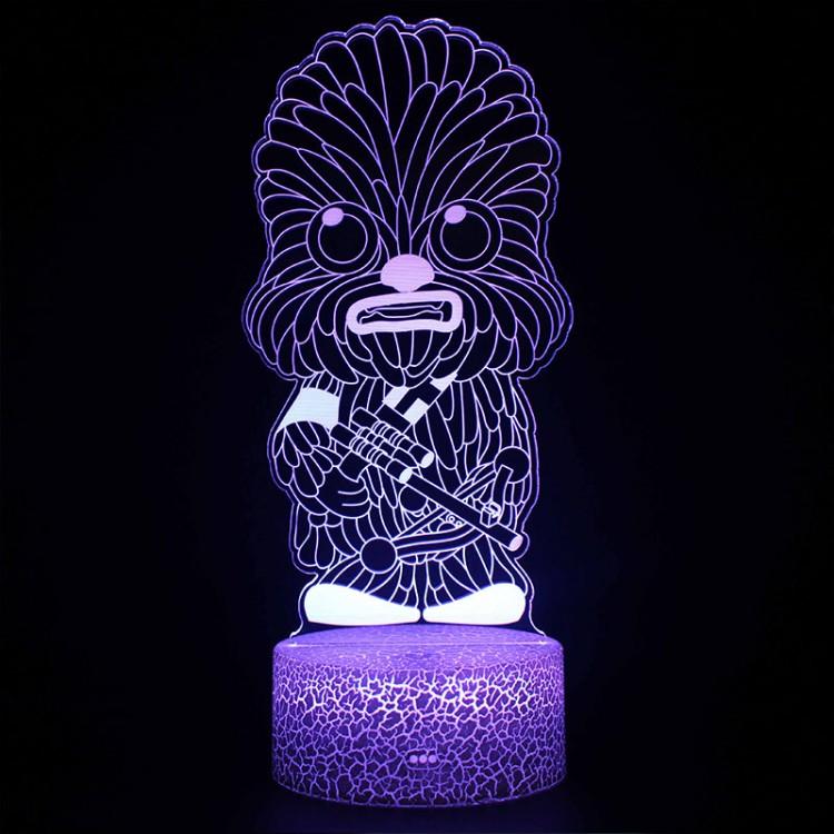 Lampe 3D Chewbacca Cartoon