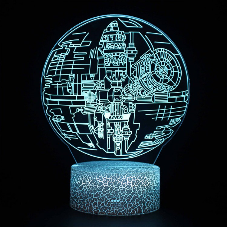 Lampe 3D Étoile de la Mort Star Wars