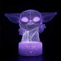 Lampe 3D Petit Yoda