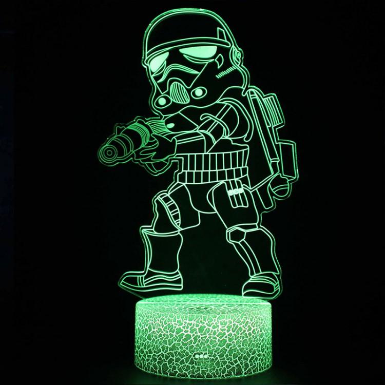 Lampe 3D Trooper Cartoon