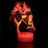 Lampe 3D Wolverine
