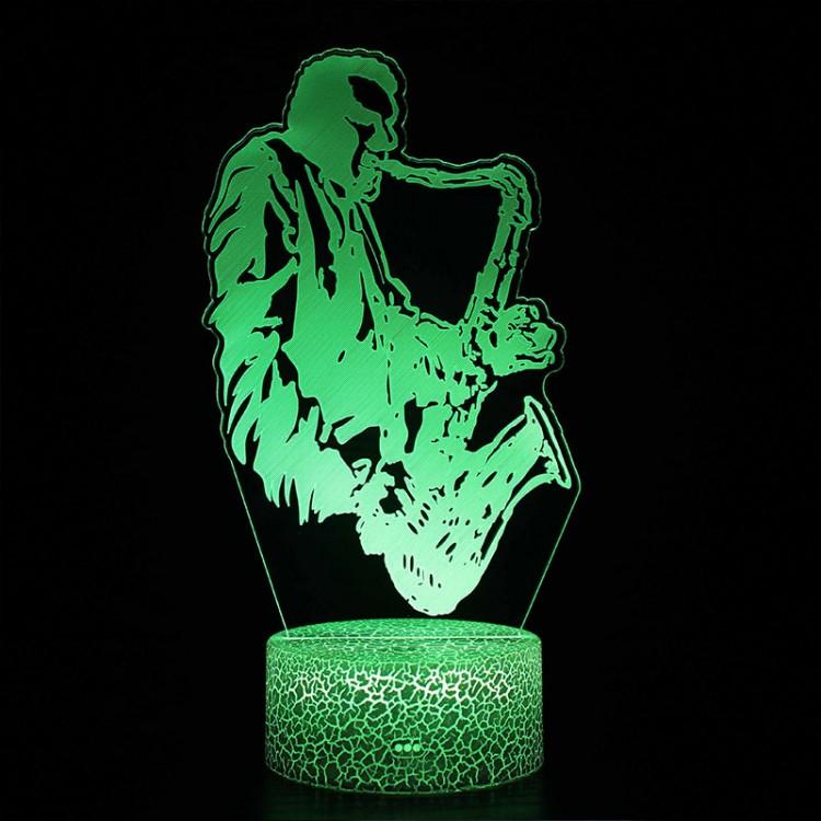 Lampe 3D Saxophoniste