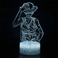 Lampe 3D Luffy en colère