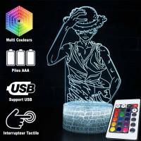 Lampe 3D Luffy en colère caractéristiques