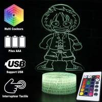 Lampe 3D Mini Luffy caractéristiques