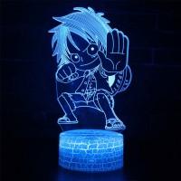 Lampe 3D Mini Luffy combat