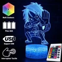Lampe 3D Mini Luffy combat caractéristiques
