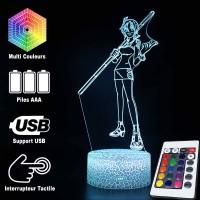 Lampe 3D Nami One Piece caractéristiques