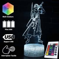 Lampe 3D Roronoa Zoro combat caractéristiques