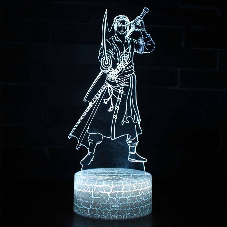 Lampe 3D Roronoa Zoro combat