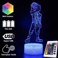 Lampe 3D Usopp caractéristiques