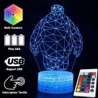 Lampe 3D Baymax origami caractéristiques