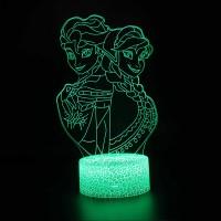 Lampe 3D Elsa et Anna