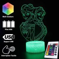 Lampe 3D Elsa et Anna caractéristiques