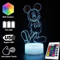 Lampe 3D Mickey Mouse caractéristiques