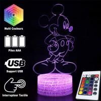 Lampe 3D Mickey Mouse original caractéristiques
