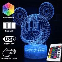 Lampe 3D tête de Mickey Mouse caractéristiques