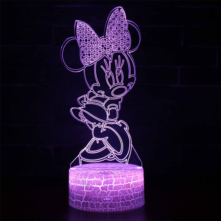 Lampe 3D Minnie Mouse