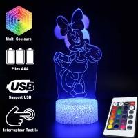 Lampe 3D Minnie Mouse caractéristiques