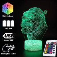 Lampe 3D Shrek caractéristiques