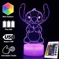 Lampe 3D Stitch caractéristiques