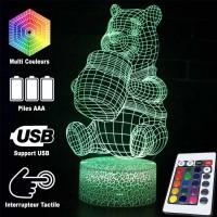 Lampe 3D Winnie l'Ourson et son pot de miel caractéristiques