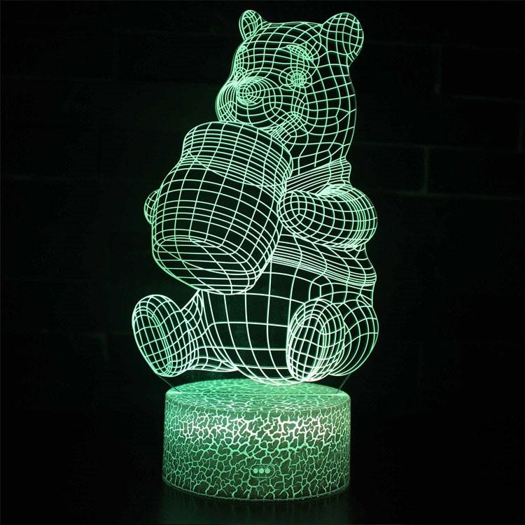 Lampe 3D Winnie l'Ourson et son pot de miel