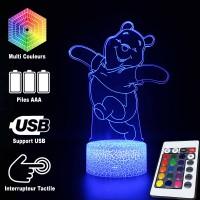 Lampe 3D Winnie l'Ourson caractéristiques